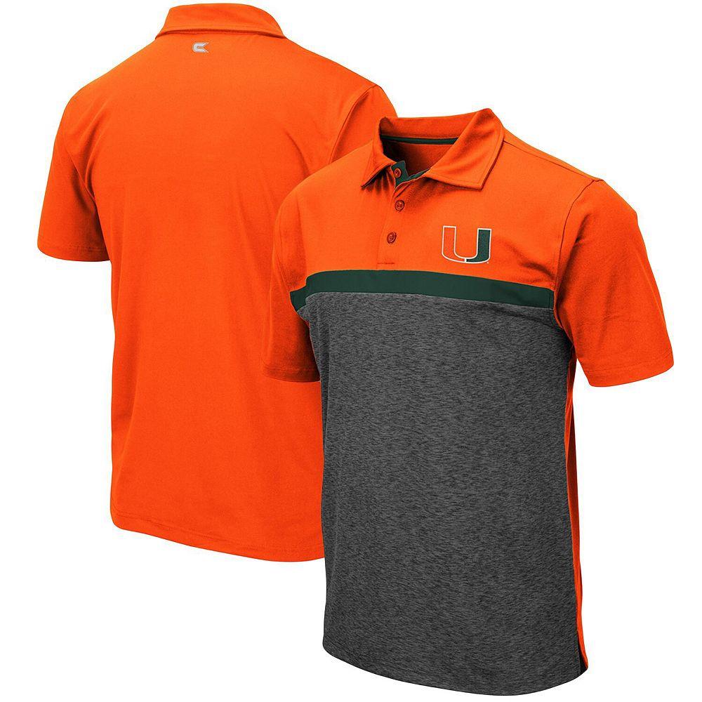 Men's Colosseum Orange Miami Hurricanes Capital City Polo