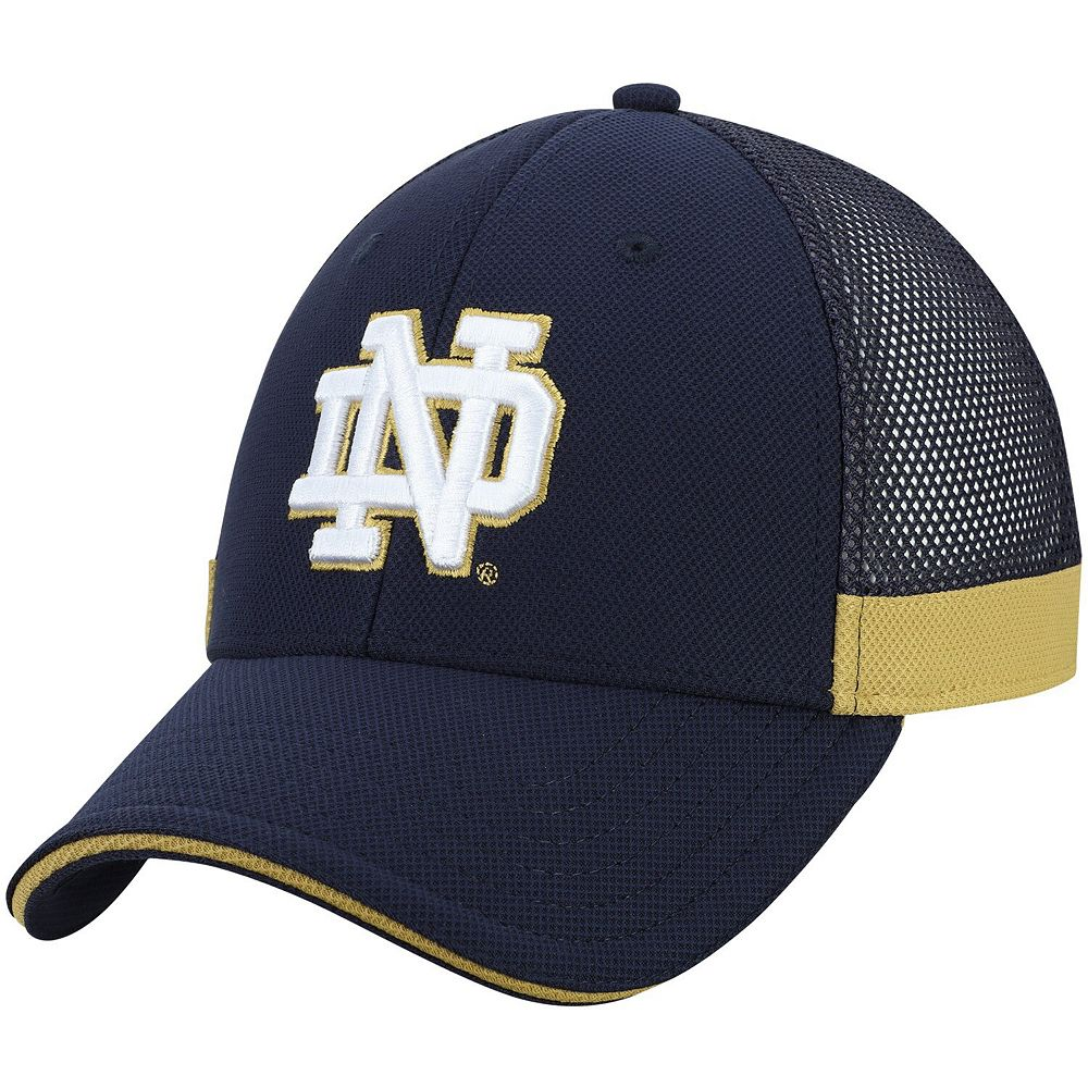 Men's Under Armour Navy Notre Dame Fighting Irish Sideline Blitzing Accent Performance Adjustable Hat