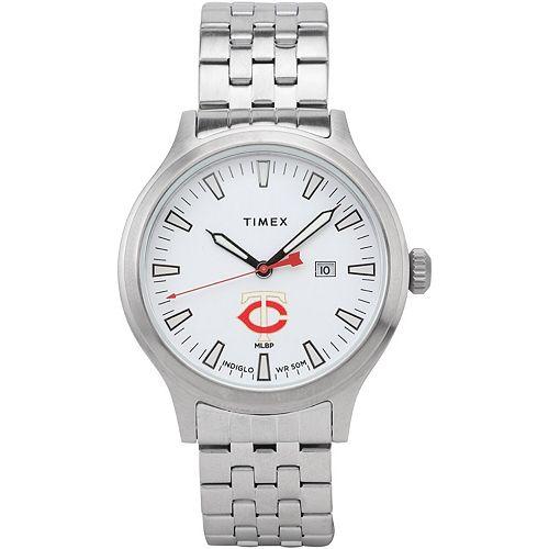 Men's Timex Minnesota Twins Top Brass Watch