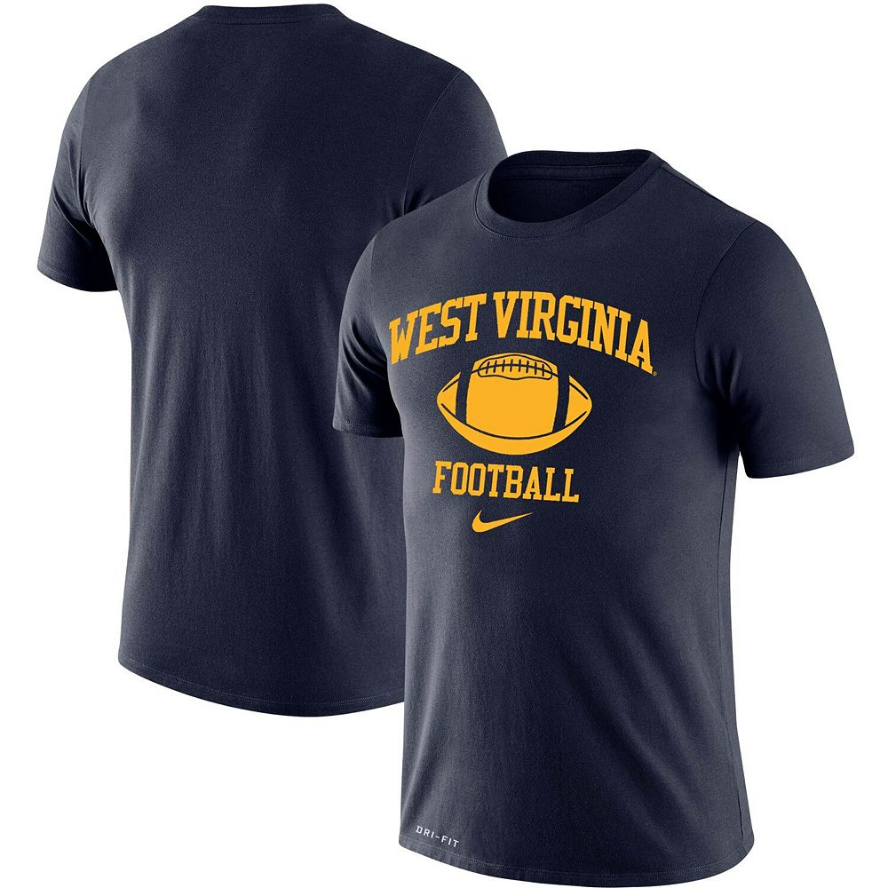 Men's Nike Navy West Virginia Mountaineers Retro Football Lockup Legend Performance T-Shirt