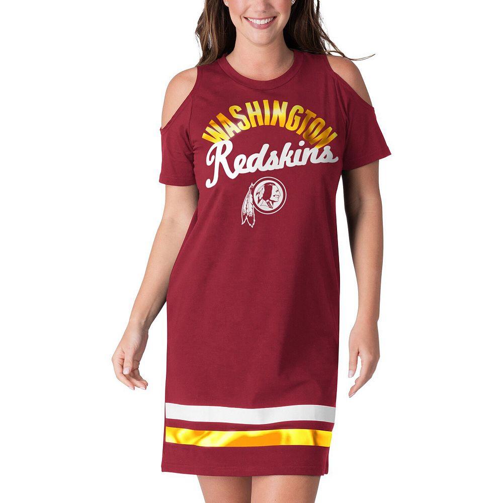 Women's G-III 4Her by Carl Banks Burgundy Washington Redskins Go Get Em Tri-Blend Cold Shoulder Mini-Dress