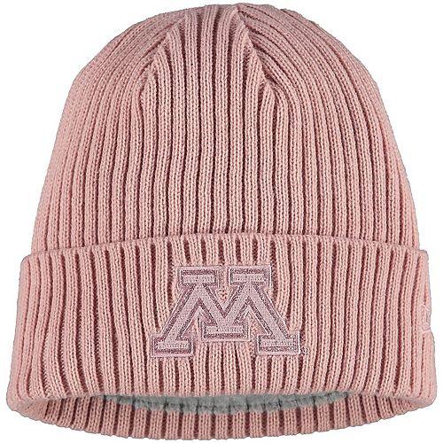 Women's New Era Pink Minnesota Golden Gophers Team Glisten Cuffed Knit Hat