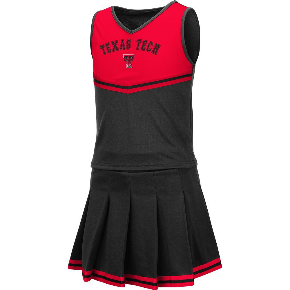 Girls Youth Colosseum Black Texas Tech Red Raiders Pinky Cheer Dress