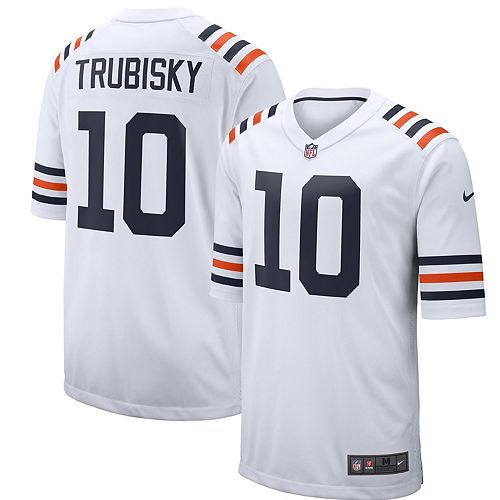 Men's Nike Mitchell Trubisky White Chicago Bears 2019 Alternate Classic Game Jersey