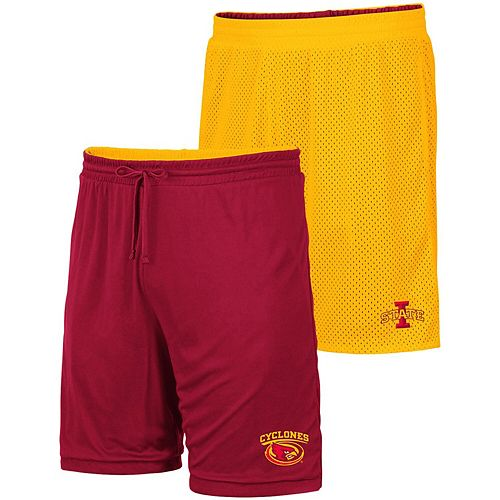 Men's Colosseum Gold/Cardinal Iowa State Cyclones Wiggum Reversible Shorts