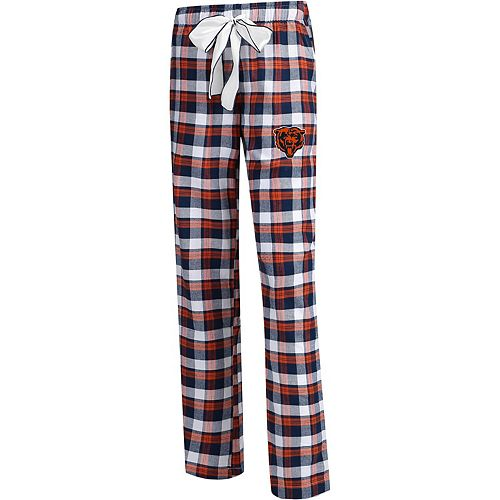 Women's Concepts Sport Navy/Orange Chicago Bears Plus Size Piedmont Flannel Sleep Pants