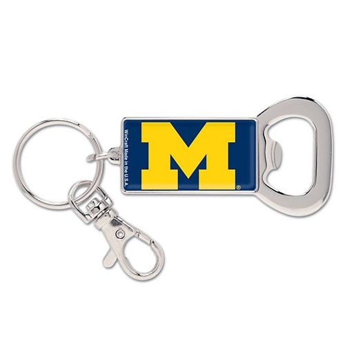 Michigan Wolverines WinCraft Bottle Opener Key Ring