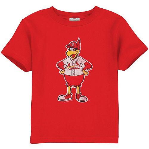 St. Louis Cardinals Toddler Red Distressed Mascot T-shirt