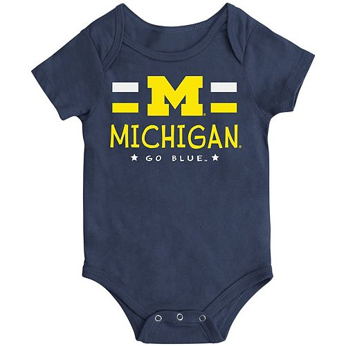 Newborn & Infant Colosseum Navy Michigan Wolverines Core Biggest Fan Bodysuit