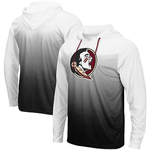 Men's Colosseum Black Florida State Seminoles Magic Gradient Hooded Long Sleeve T-Shirt