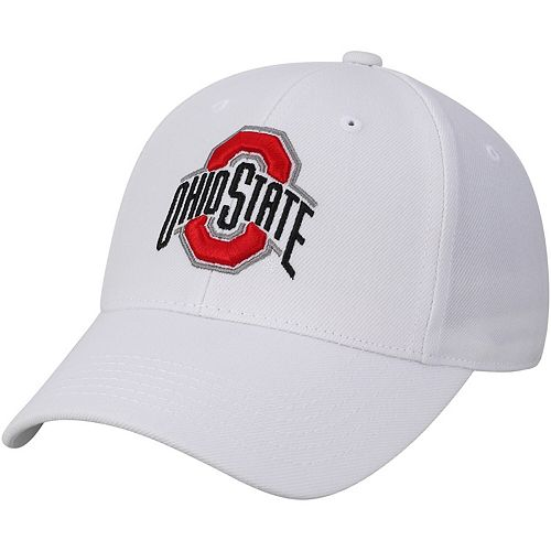 Men's Top of the World White Ohio State Buckeyes Top Dynasty Fitted Hat