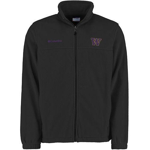 Men's Columbia Charcoal Washington Huskies Flanker II Full-Zip Fleece Jacket