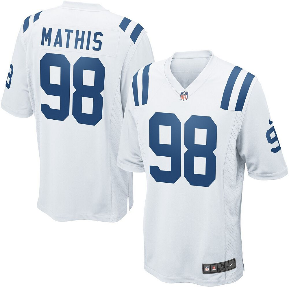 Mens Indianapolis Colts Robert Mathis Nike White Game Jersey