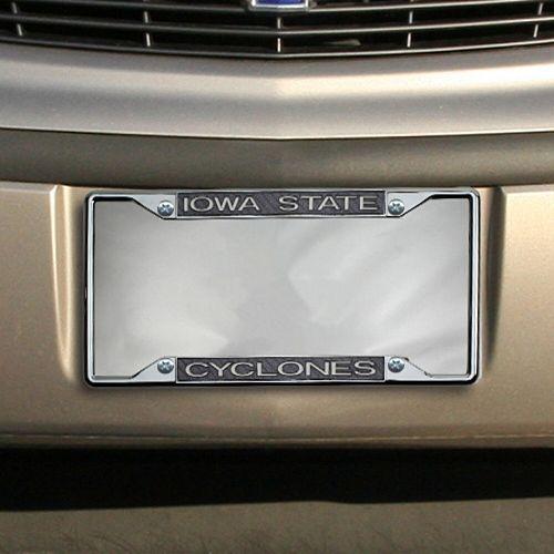 Iowa State Cyclones Carbon Fiber Team License Plate Frame