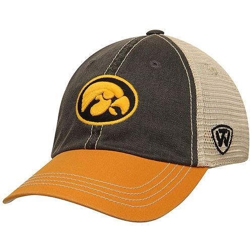 Youth Top of the World Black Iowa Hawkeyes Offroad Trucker Snapback Hat