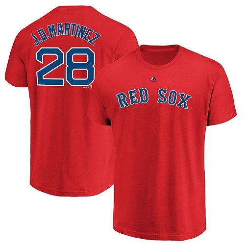 Men's Majestic J.D. Martinez Red Boston Red Sox Name & Number T-Shirt