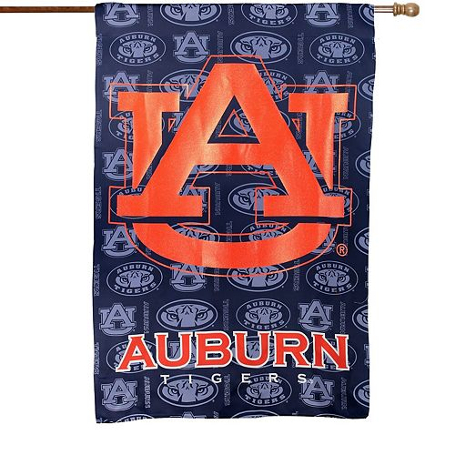 "Auburn Tigers 29"" x 43"" Glitter Suede House Vertical Flag"