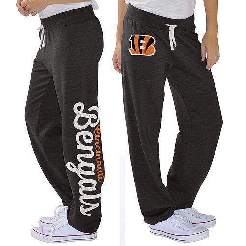 Women's G-III 4Her by Carl Banks Black Cincinnati Bengals Scrimmage Fleece Pants