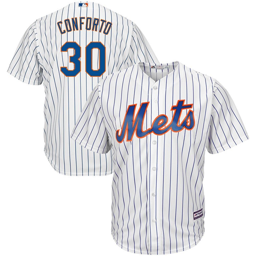 Men's Majestic Michael Conforto White New York Mets Official Cool Base Player Jersey