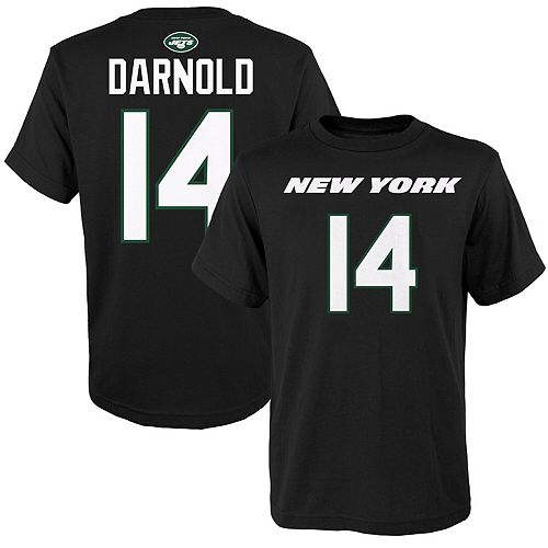 Sam Darnold New York Jets Youth Mainliner Name & Number T-Shirt - Black