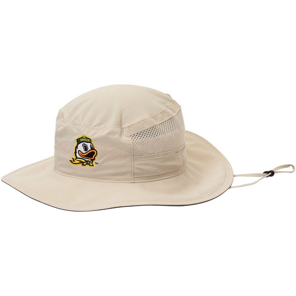 Men's Columbia Natural Oregon Ducks Bora Bora Booney II Bucket Hat