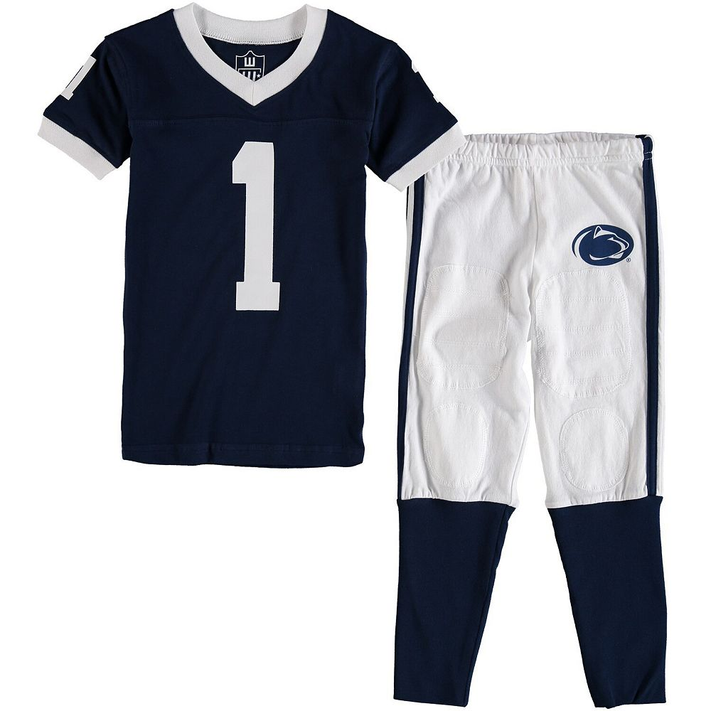 Preschool Wes & Willy Navy Penn State Nittany Lions Football Pajama Set