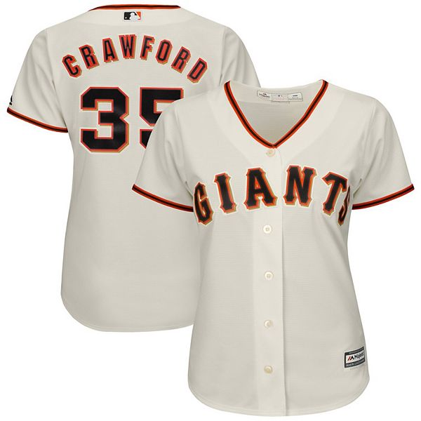 Women's Majestic Brandon Crawford Cream San Francisco Giants Cool Base Player Jersey