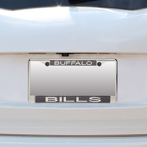 Buffalo Bills Small Over Large Carbon Fiber License Plate Frame with Matte Letters