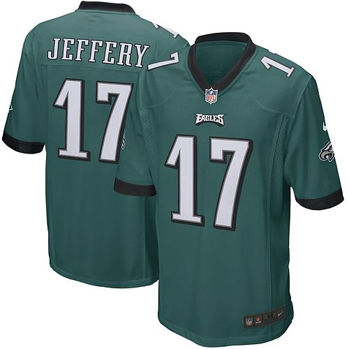 Youth Nike Alshon Jeffery Green Philadelphia Eagles Game Jersey