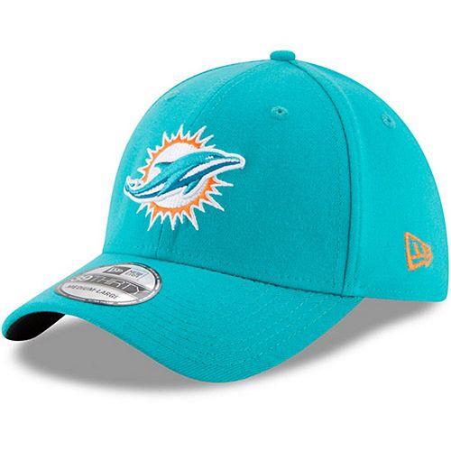 Men's New Era Aqua Miami Dolphins 39THIRTY Flex Team Classic Hat