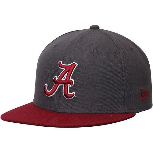 Men's New Era Graphite/Crimson Alabama Crimson Tide Basic 59FIFTY Fitted Hat