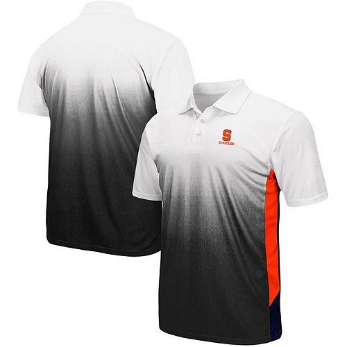Men's Colosseum Gray Syracuse Orange Magic II Polo