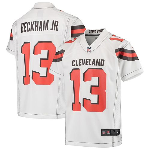 the best attitude e5d01 41084 Youth Nike Odell Beckham Jr White Cleveland Browns Game Jersey