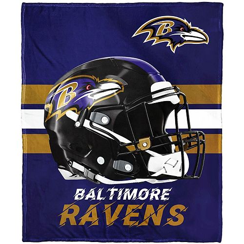 """The Northwest Company Baltimore Ravens 50"""" x 60"""" Protector Silk Touch Throw"""
