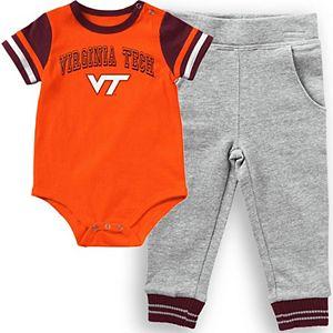Infant Colosseum Orange Virginia Tech Hokies Baseball Bodysuit and Pants Set
