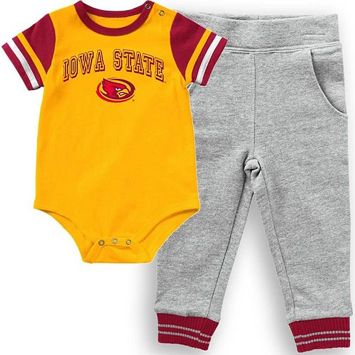 Infant Colosseum Gold Iowa State Cyclones Baseball Bodysuit and Pants Set