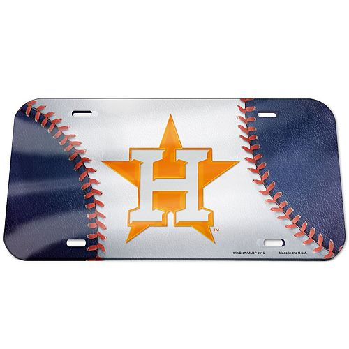 WinCraft Houston Astros Ball Crystal Mirror License Plate