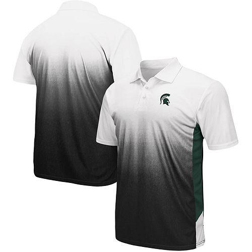Men's Colosseum Gray Michigan State Spartans Magic II Polo