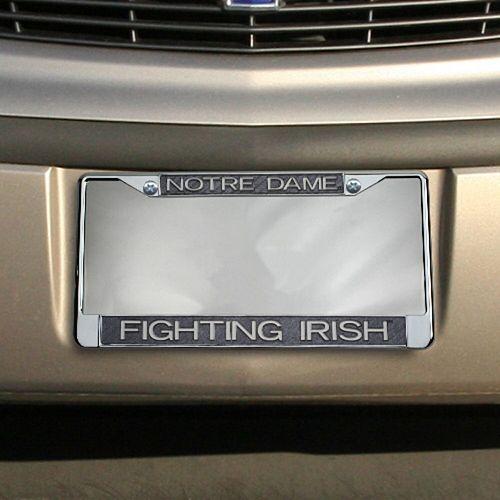Notre Dame Fighting Irish Carbon Fiber Team License Plate Frame