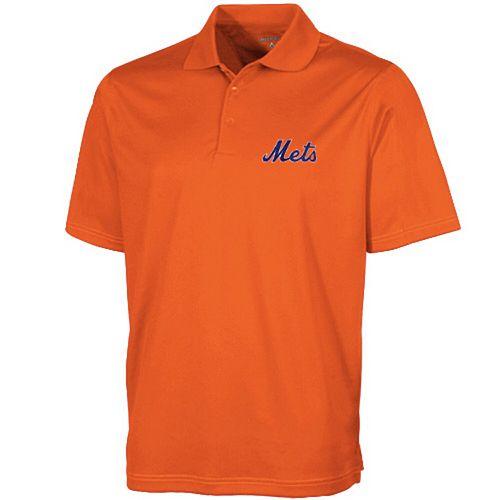 Men's Antigua Orange New York Mets Desert Dry Xtra-Lite Polo