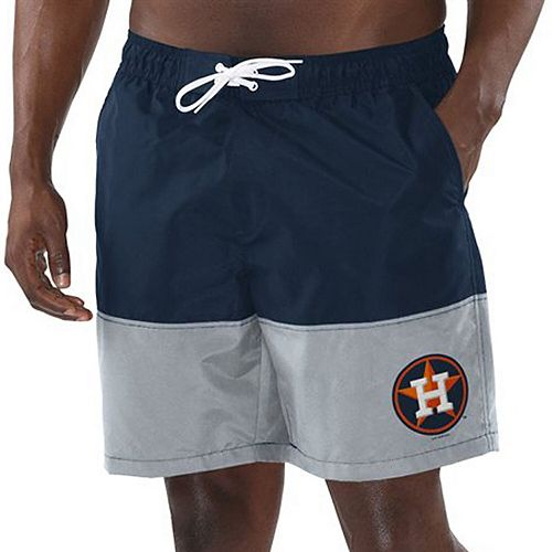Men's G-III Sports by Carl Banks Navy/Gray Houston Astros Anchor Volley Swim Trunks