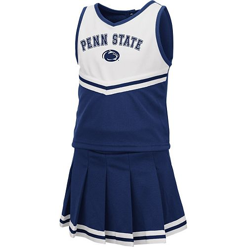 Girls Toddler Colosseum Navy Penn State Nittany Lions Pinky Cheer Dress