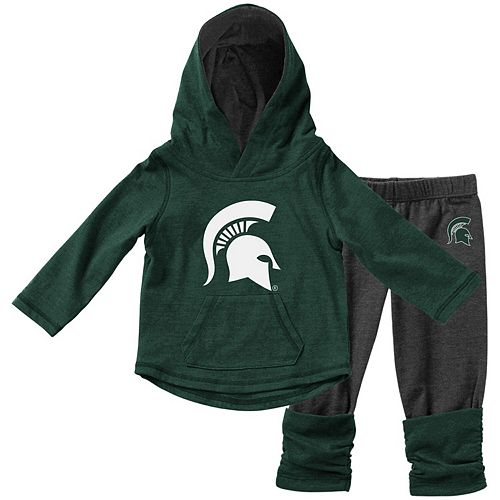 Girls Infant Colosseum Green Michigan State Spartans Minerva Long Sleeve T-Shirt and Leggings Set