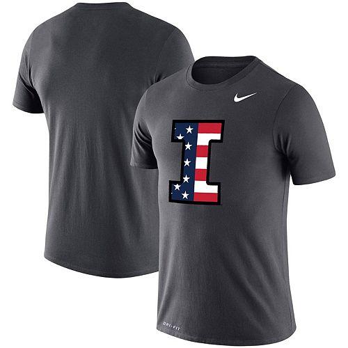 Men's Nike Anthracite Illinois Fighting Illini Americana Legend Performance T-Shirt