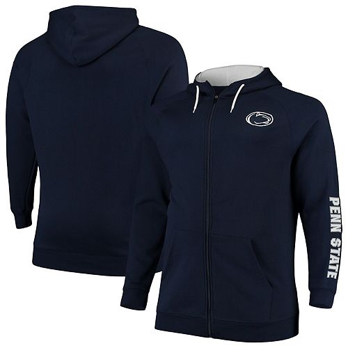 Men's Colosseum Navy Penn State Nittany Lions Big & Tall Comic Book Full-Zip Hoodie