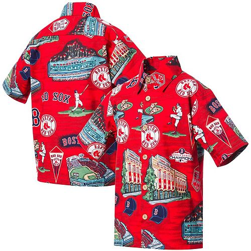 Youth Reyn Spooner Red Boston Red Sox Scenic Button-Up Shirt