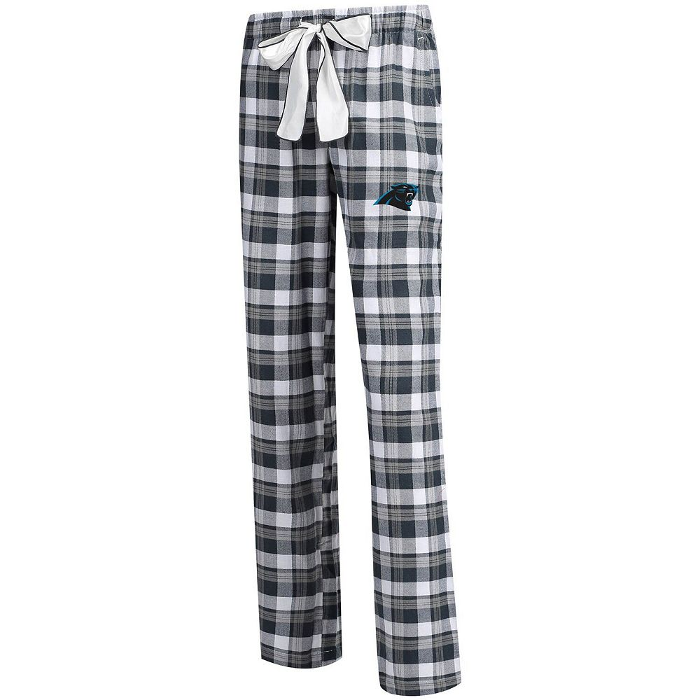 Women's Concepts Sport Charcoal/Gray Carolina Panthers Piedmont Flannel Sleep Pants
