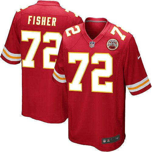 Mens Kansas City Chiefs Eric Fisher Nike Red Game Jersey