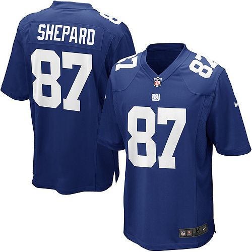 Men's Nike Sterling Shepard Royal New York Giants Game Jersey
