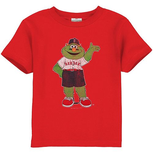 Boston Red Sox Toddler Distressed Mascot T-Shirt - Red